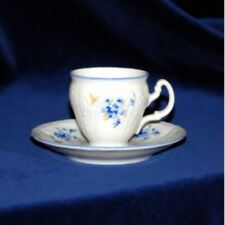 Espresso cup and saucer BERNADOTTE 2.5 oz/ 4.7in, Carlsbad porcelain,  Forget-me