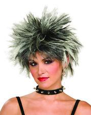 Années 80 femme-homme pop star Spike Wig-ROCK STAR-Punk Rocker-années 70 Halloween