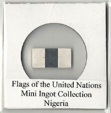 Miniature Silver Flag Ingot:  NIGERIA Franklin Mint Flags of the United Nations