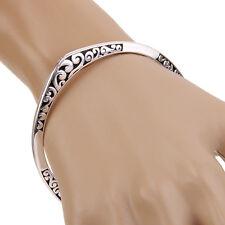 Men Fashion Silver Black Pattern Sexy Bracelet Bangle Wristwear Hand Jewelry