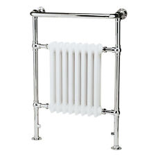 Traditional 8 Section Bathroom Chrome White Towel Rail Radiator AF-IE16001