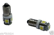 1x LED SMD Kontroll Lampe 6V 5W 1.2W 2W E10 Xenon Weiß 6000K Oldtimer Moped
