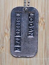 Wolverine X-Men Logan Dog Tag Military Necklace