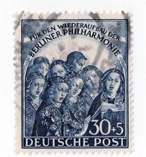 Germany Berlin 9NB5 1950  Singing Angels 30 +5pf, Dk Slate Blue