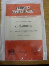 10/08/1968 Barnsley v Barrow  .  Thanks for taking the time to view this item, w