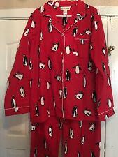 NWOT Hatley 100% cotton Pajama Pants Penguins PJ sleep Size L. (ZZZ)
