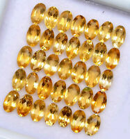 NATURAL YELLOW CITRINE 7X5 MM OVAL CUT FACETED LOOSE AAA QUALITY GEMSTONE LOT