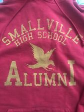 Smallville High School Alumni Superman Red Hoodie Hoody Large