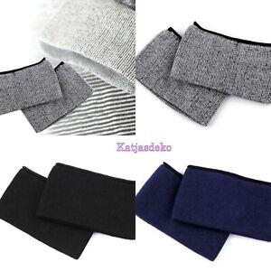 1 x Paar Ärmelbündchen Bündchenstoff nahtlos elastisch Ärmel Baumwollmischung