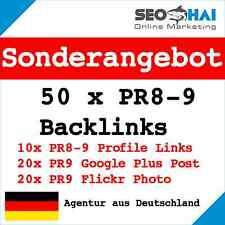 50 x PR8-9 echte DoFollow Backlinks Suchmaschinenoptimierung | SEO, Linkaufbau