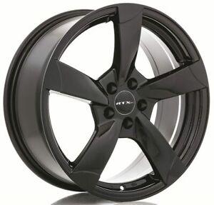 One (1) 17x7.5 RTX OE RS II ET 35 Black 5x112 Wheel Rim