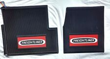 Freightliner Classic/XL/FLD OEM Black Rubber Floor Mats w/Red Logo 2 Pc   NEW!