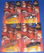 DISNEY PIXAR INCREDIBLES 2 COLLECTIBLES CARS COMPLETE SET OF 4, NEW