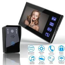 """7"""" Color Video Door Bell Digital Phone Doorbell Intercom Home Security IR Camera"""