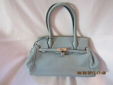 Preowned Women's Handbag - NO NAME Brand - Aqua in Color - Leather Look