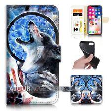 ( For iPhone XR ) Wallet Flip Case Cover AJ21381 Dream Catcher Wolf