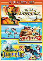 The Tale Of Despereaux / Open Season 2 / Surf's Up DVD 3-Disc Set New & Sealed