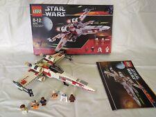 Lego: Star Wars (6212) X-Wing completa con figuras las instrucciones y caja de 2006