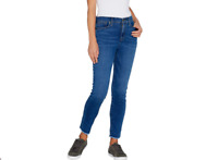 Isaac Mizrahi Live! Petite TRUE DENIM Frayed Hem Ankle Jeans Size 12 Blue Color
