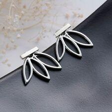 2017 Women Fashion Crystal Gold Silver Ear Stud Hoop Earrings Wedding Jewelry