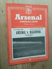 More details for arsenal v blackpool. 1953 fa charity shield. 12/10/1953