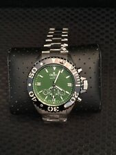 Croton Mens Green Dial Stainless Steel Watch Outstanding!!