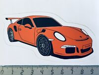 Sticker / Aufkleber, Porsche 911 / 991 GT3 RS orange
