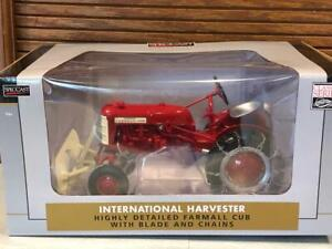 Speccast IH 1958 Farmall Cub with Blade and Chains 1/16 scale ZJD 1848