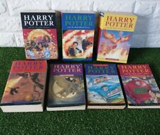 Harry Potter Complete set Paperback books inc RARE DEATHLY HALLOWS & 1st edition