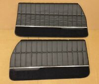 1971 1972  Monte Carlo Door Panels Front  Black PUI Fully Assembled (IN STOCK)