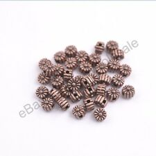 100pcs Tibetan silver bead charm flower spacer beads Jewellery 5MM CA3115