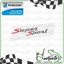 TARGHETTA SUPER SPORT PER VESPA GTS 125 300 ADESIVO BAULETTO ORIGINALE PIAGGIO