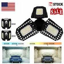 80W 8000LM Deformable LED Garage Light Super Bright Shop Ceiling Lights Bulb RG
