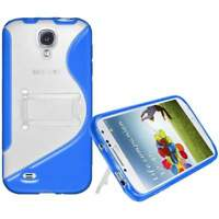 NEW AMZER BLUE PROTECTIVE TPU HYBRID CASE W/ STAND FOR SAMSUNG GALAXY S4 I9500