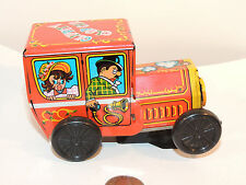 Tin Clippity Clop Car Wind Up Toy by Yone no 2077 (10007)