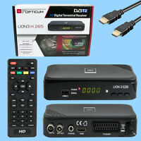 OPTICUM LEONE 3 HD 265 PLUS DVB-T2 A.265 HEVC DIGITALE TERRESTRE RICEVITORE