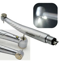 Golden Ceramic Bearing High Speed E-generator LED Handpiece Push Button 3W 4Hole