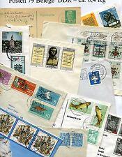 Posten 79 Belege DDR - ca. 0,4 Kg  ( 37824 )