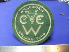 More details for badge patch cycling cycle club willesden cyclist bicycle member membership