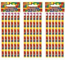 18 Lego Bricks Eraser pencils,.party bag toys,loot bag fillers,favours