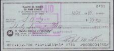 Ralph M. Kiner Signed Check w/COA 122717DBT