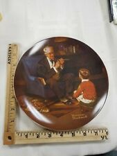 """Norman Rockwell Plate """"The Tycoon"""" Made by Knowles"""