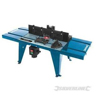Silverline Router Table with Protractor 850 x 335mm Routing Station Plunge