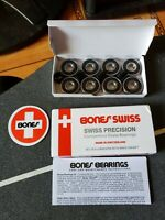 Bones Swiss Skateboard Bearings 8-Pack Set New 608 / 8mm US Seller