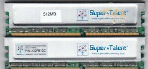 1GB 2x512MB PC-3200 DDR-400 RAM KIT X32PB1GC SUPERTALENT Super Talent HeatShield
