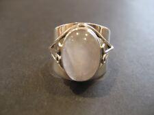 Handmade Solid 925 Sterling Silver & Rose Quartz Crystal Gemstone Ring 925335