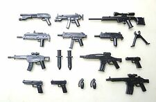 (No.16-4) custom swat police gun  army weapons 16 parts for LEGO minifigures