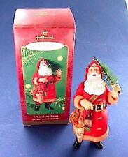 MIB HALLMARK Christmas ORNAMENT 2000 WINTERBERRY SANTA Bottle Brush TREE