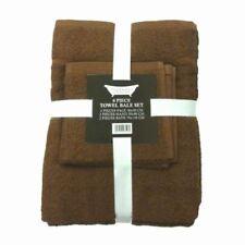 Toallas de baño y albornoces color principal marrón 100% algodón con la toalla de lavabo
