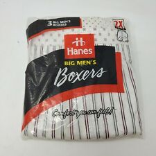 Hanes 1996 Big Men 2Xl Xxl Boxers 55% Cotton Vintage Underwear 3 Pack
